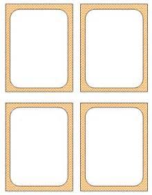 Printable Blank Flash Card Template