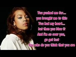 Keyshia Cole Trust And Believe Lyrics On Screen