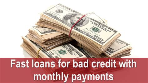fast loans  bad credit  monthly payments payday