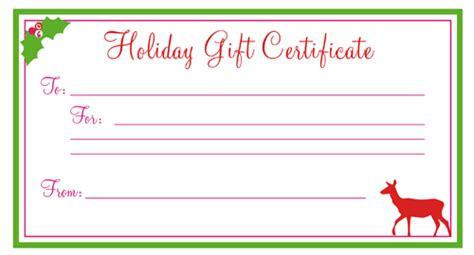 free printable christmas gift certificates new calendar
