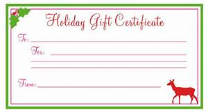 free printable christmas gift certificates new calendar With holiday gift certificate template free printable