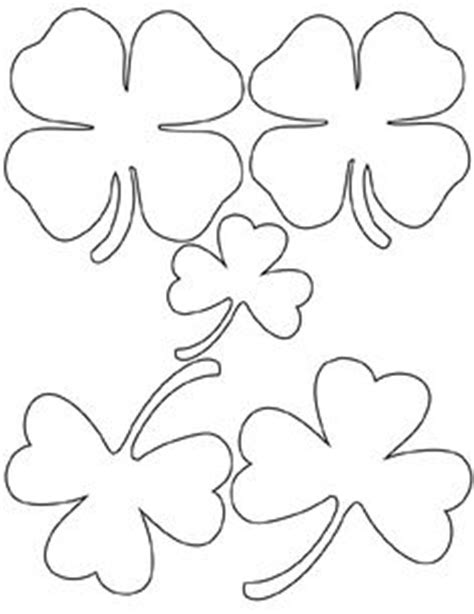 printable full page large  leaf clover pattern