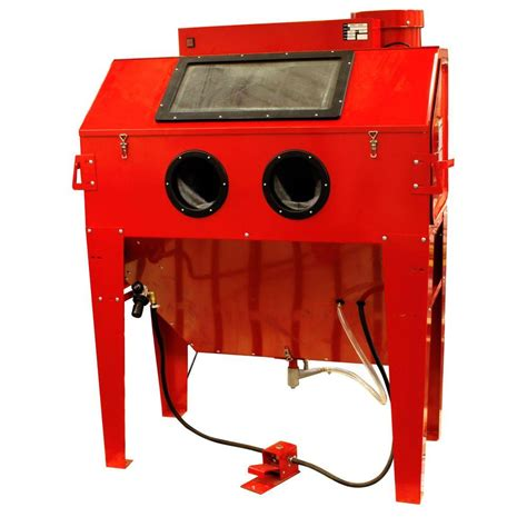 black bull 110 gal sandblaster cabinet dust collector