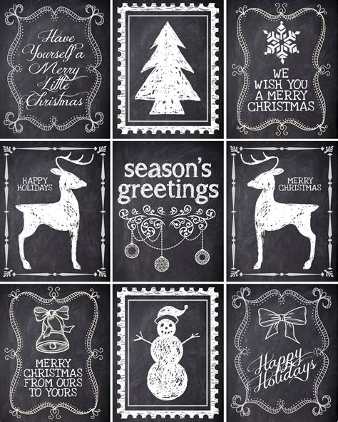 christmas chalkboard labels  printable   nest