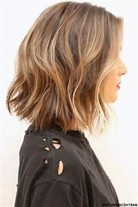Ombré Hair Blond Foncé : balayages m ches et ombre hair sur cheveux mi longs coiffure simple et facile ~ Nature-et-papiers.com Idées de Décoration