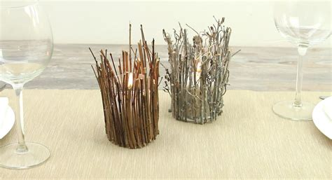 twig candle holder make a rustic twig candle holder home decorating trends