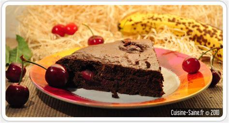 cuisine cerise recette sans gluten fondant au chocolat cerise tout