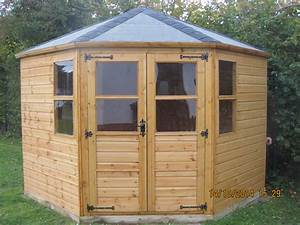 corner summerhouse north wales sheds With corner outdoor storage shed