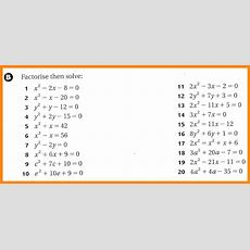 Solving Quadratic Equations By Factoring Worksheet Equations Alistairtheoptimist Free