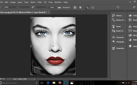 photoshop tutorial   add color   key parts   black  white image