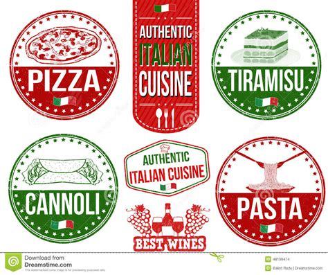 set de cuisine retro authentic food sts stock vector illustration