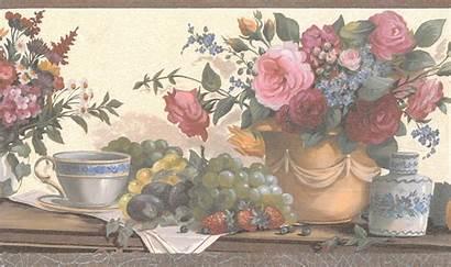 Kitchen Border Country Brown Beige Walmart Flowers