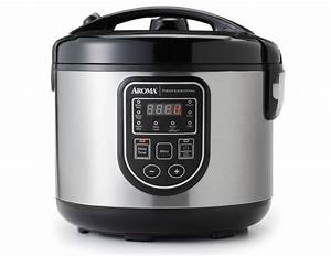 20-cup  Cooked  Digital Rice Cooker  Food Steamer  U0026 Slow Cooker