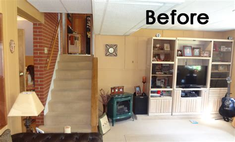 convert basement into garage before after converting a garage into a family room mosby building arts right bath