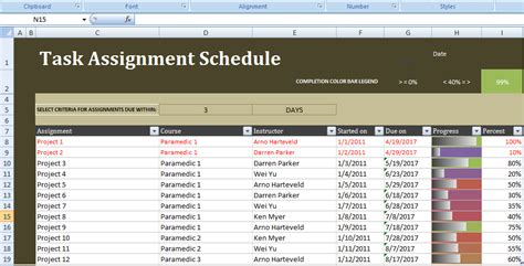 A project is made up of deliverables and those deliverables are created by tasks. Get Task Assignment Schedule Excel Template   Scheduling tools, Excel templates, Task management