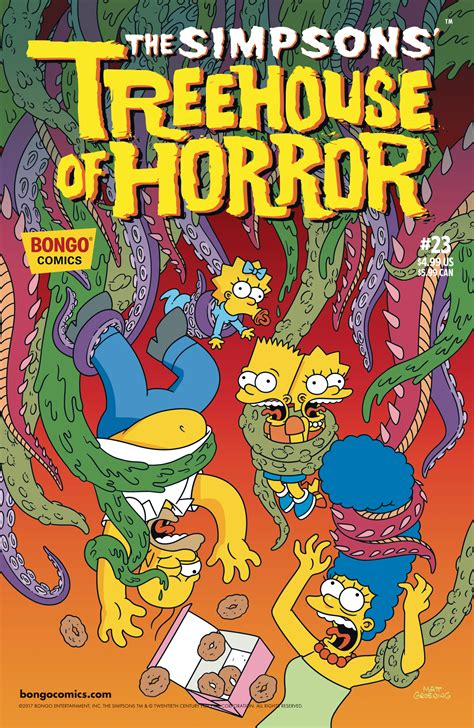 jul simpsons treehouse  horror  previews world