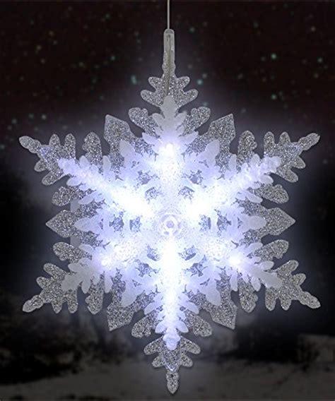 lighted led snowflake christmas window decoration