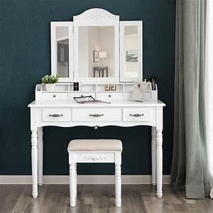 Vanity, Table, Set, Tri