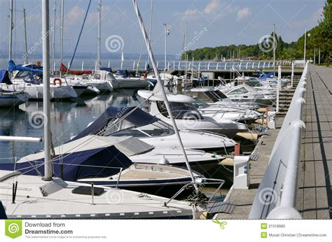 bureau plan thonon port of thonon les bains in stock photo image