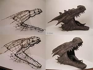 Werewolf vs Dragon WIP - Dragon head by NenadJones on ...