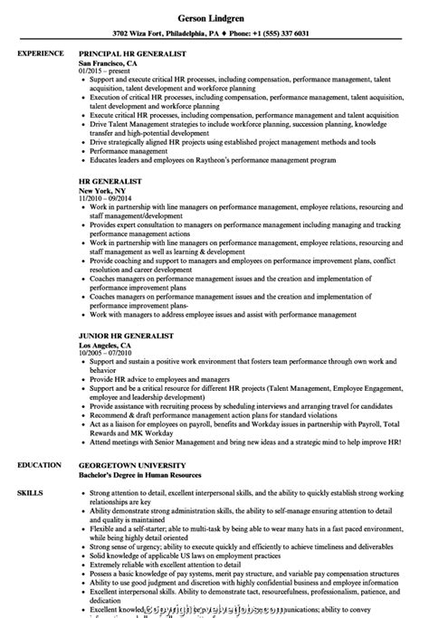 hr generalist resume hr generalist resume samples