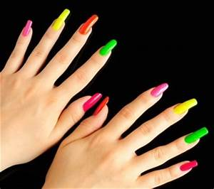 Neon Shades nail colors