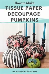 Tissue, Paper, Decoupage, Pumpkins, Easy, No, Carve, Pumpkin, Decorating