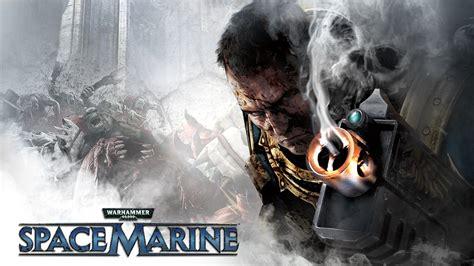 full hd wallpaper warhammer space marine gun face poster