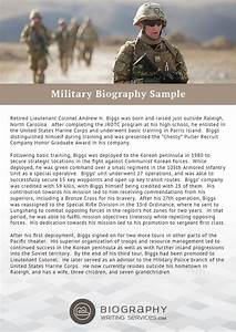 military biography format writing With military biography template