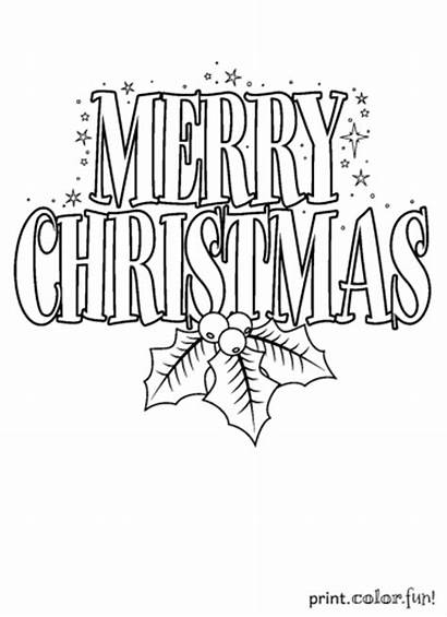 Merry Christmas Sign Coloring Drawing Pages Printable