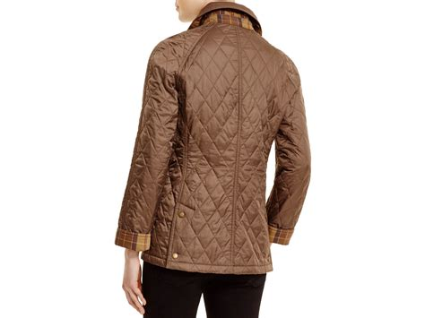 barbour beadnell quilted jacket barbour summer beadnell quilted jacket in brown lyst