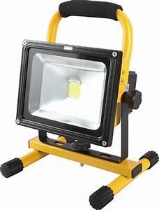 Projecteur à Led : projecteur de chantier led 20w portable ip44 rechargeable eclairage projecteur et baladeuse ~ Melissatoandfro.com Idées de Décoration