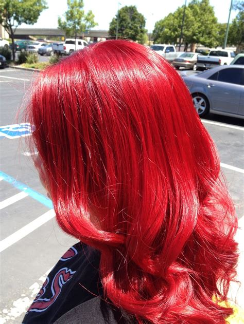 Bright Red Hair Hair By Sumer Wade Bright Red And Curly