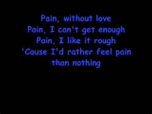 Three Days Grace - Pain (With Lyrics) - YouTube