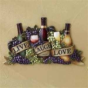 live laugh love wine wall art from seventh avenue di701527 With kitchen cabinets lowes with live love laugh sign wall art