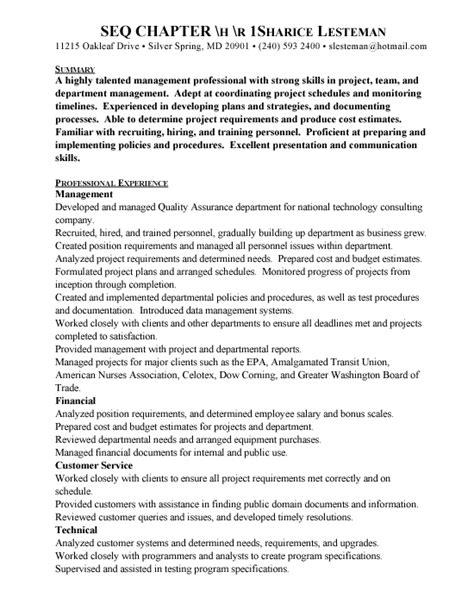 quality assurance banking resume