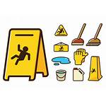 Wet Floor Cartoon Clipart Icons Transparent Limpieza