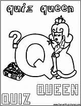 Queen Quiz Coloring Fun sketch template