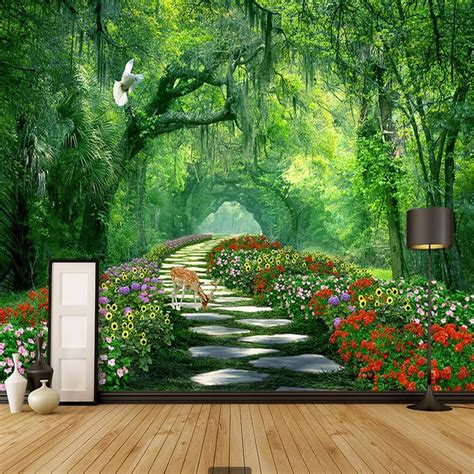 nature tree  landscape mural photo wallpaper  walls