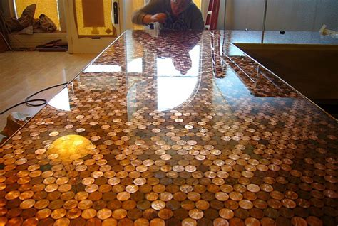 tile your floor with pennies cents and sensibility how to install a copper penny floor