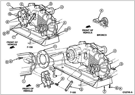 2003 Ford F 150 Transfer Diagram by 94 Ford F150 Transfer Diagram Mounting Bracket