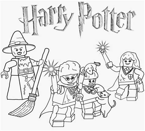 lego harry potter coloring pages coloring home