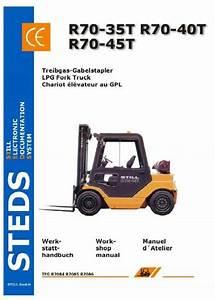Still Lpg Fork Truck R70-35t  R70-40t  R70-45t Series  R7084  R7085  R7086 Workshop Manual