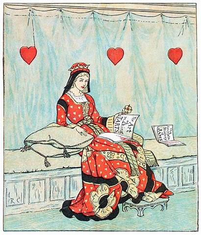 Queen Hearts Song Sing Sixpence Caldecott Illustrations