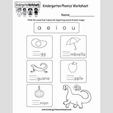 Kindergarten Phonics Worksheet  Free Kindergarten English Worksheet For Kids