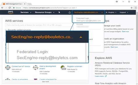 aws console login knowledge repo boyle technical consulting services