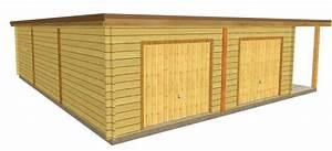 plan garage ossature bois toit plat myqtocom With plan garage ossature bois toit plat