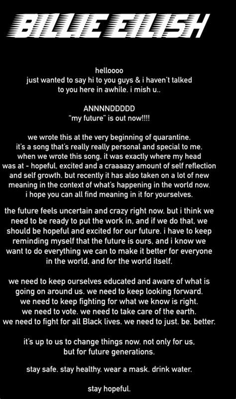 Billie Eilish – my future Lyrics | Genius Lyrics