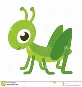 Cute cartoon grasshopper stock vector. Illustration of ...