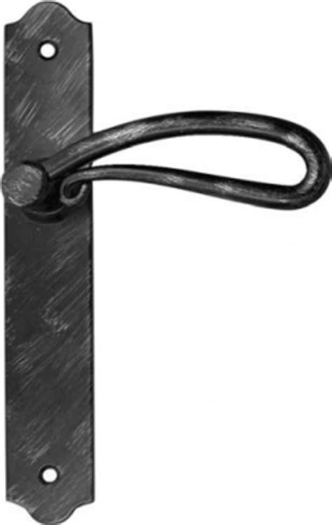 poign 233 e de porte int 233 rieure rustique en fer forg 233 noir patin 233 sur plaque bec de entraxe 195